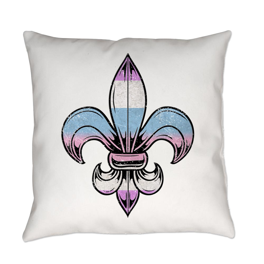 Bigender Pride Flag Fleur de Lis Everyday Pillow