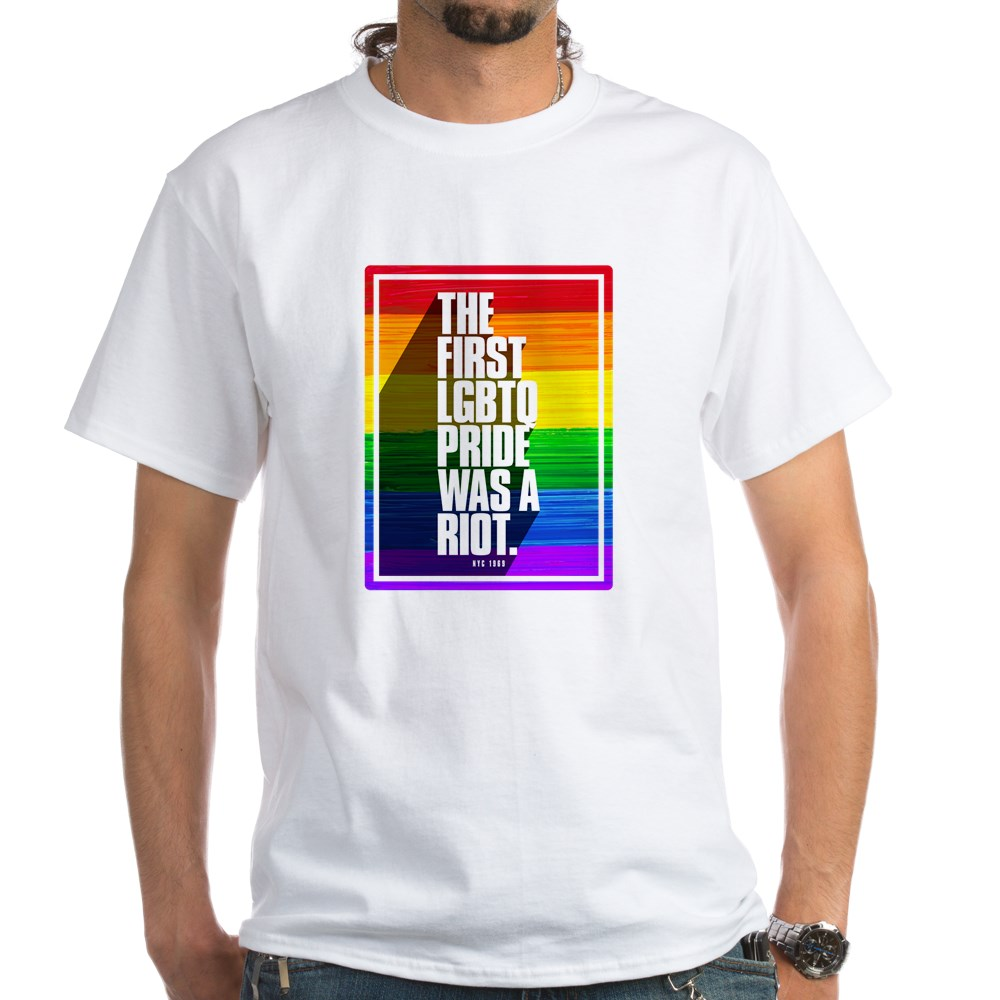 The First LGBTQ Pride Was A Riot White T-Shirt
