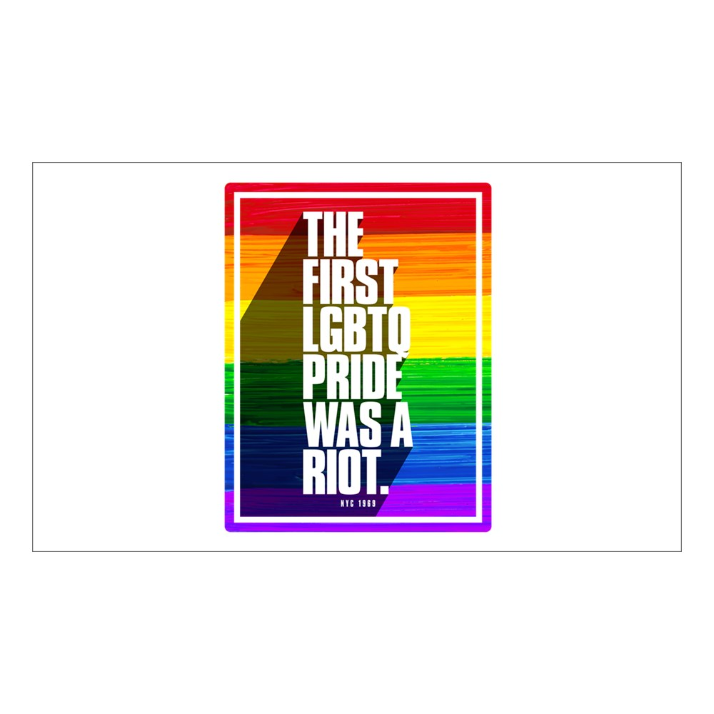 The First LGBTQ Pride Was A Riot Rectangle Sticker