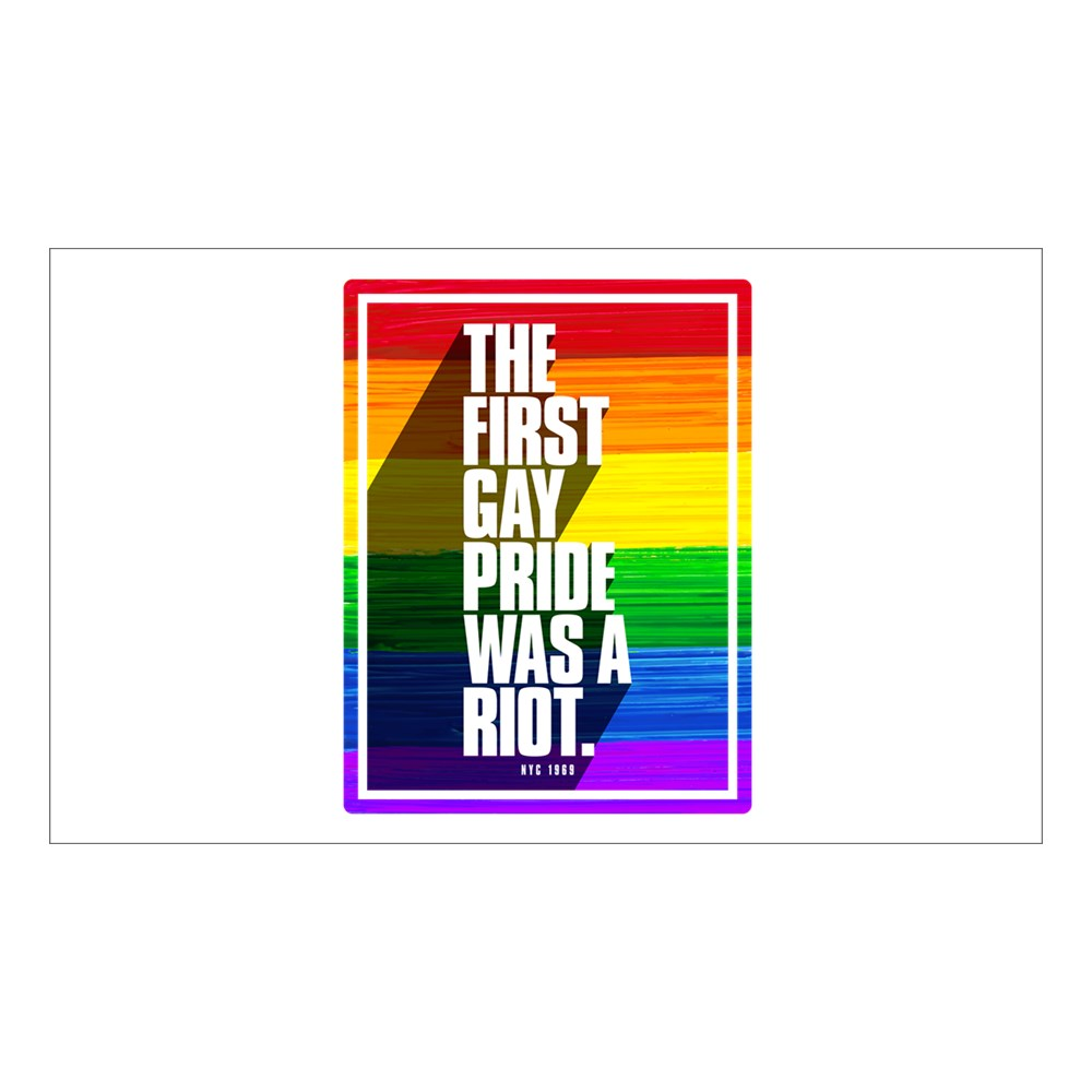 The First Gay Pride Was A Riot Rectangle Sticker