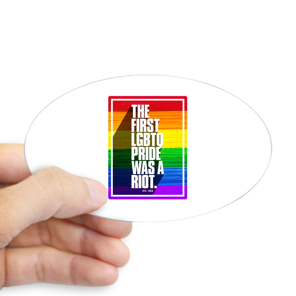 The First LGBTQ Pride Was A Riot Oval Sticker