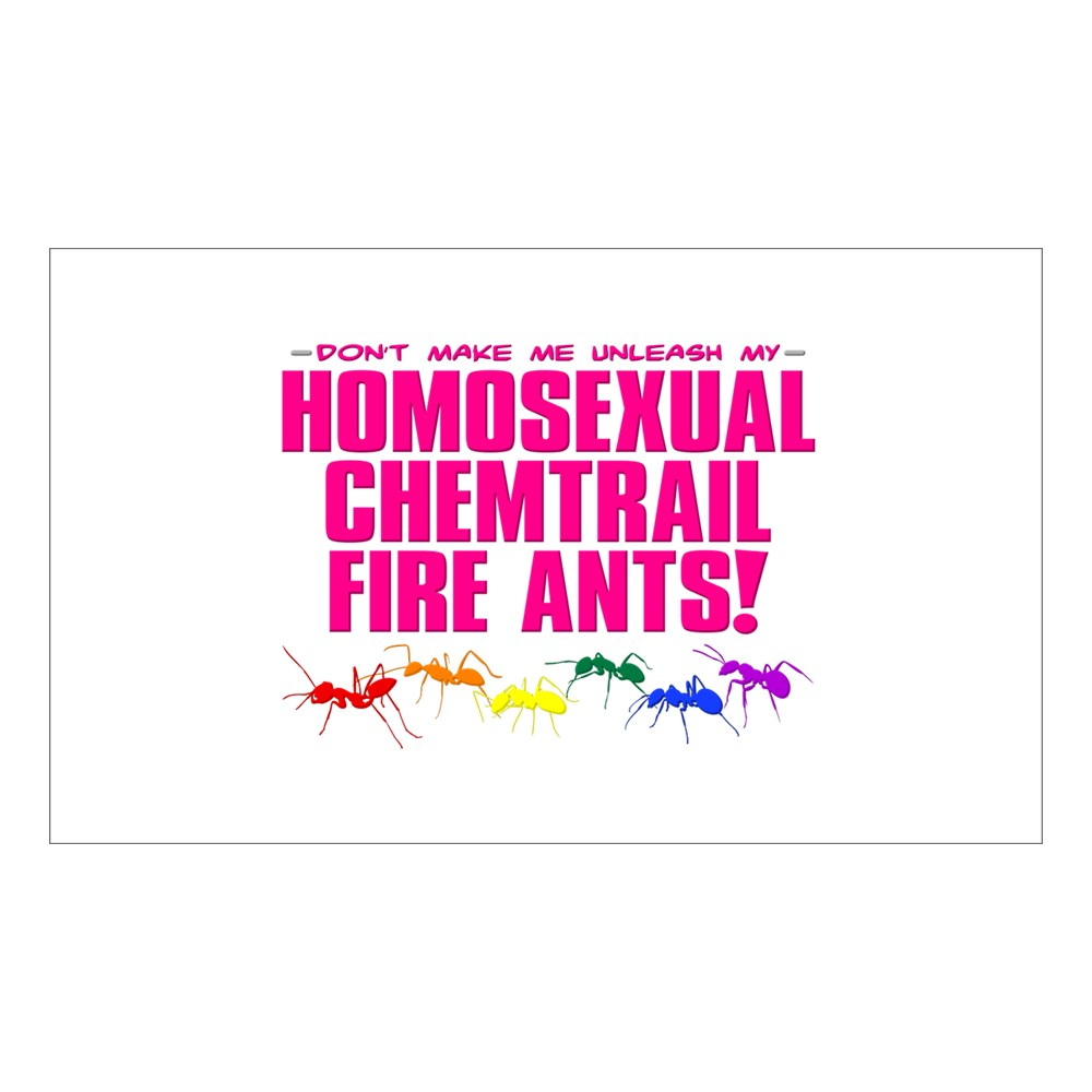 Homosexual Chemtrail Fire Ants Rectangle Sticker