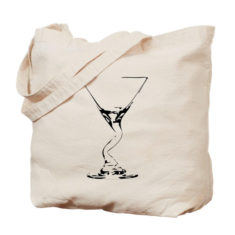 Bent Martini Glass Tote Bag