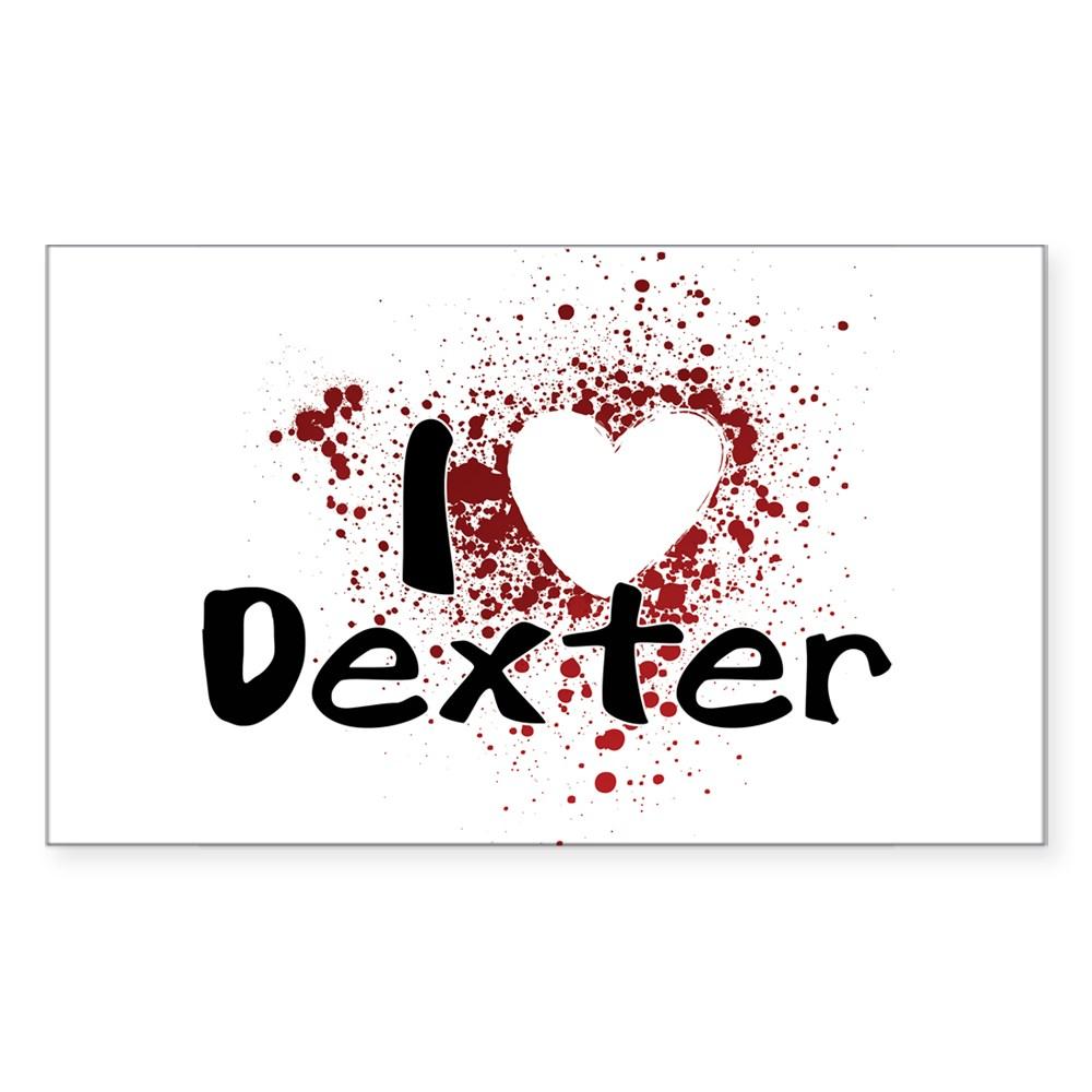 I Heart Dexter Rectangle Sticker