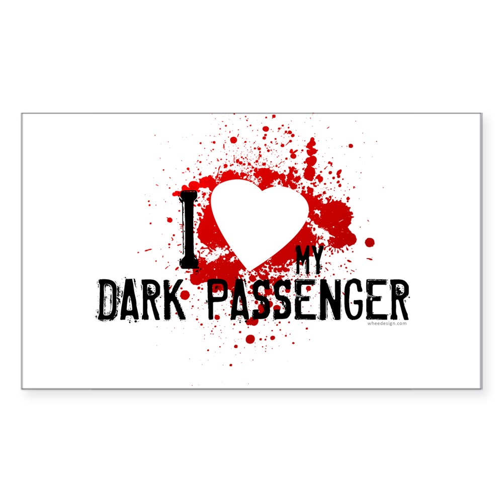 I Heart My Dark Passenger Rectangle Sticker