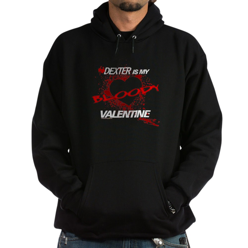 Dexter Is My Bloody Valentine Dark Hoodie