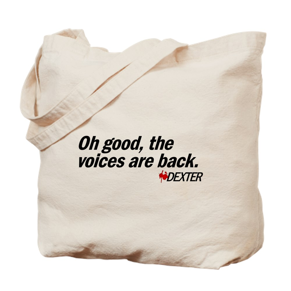 Oh good, the voices are back. - Dexter Tote Bag