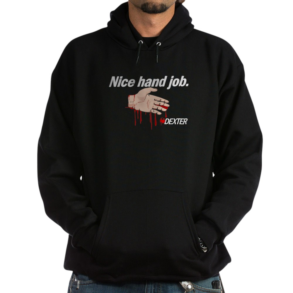 Nice Hand Job - Dexter - Bloody Hand Dark Hoodie