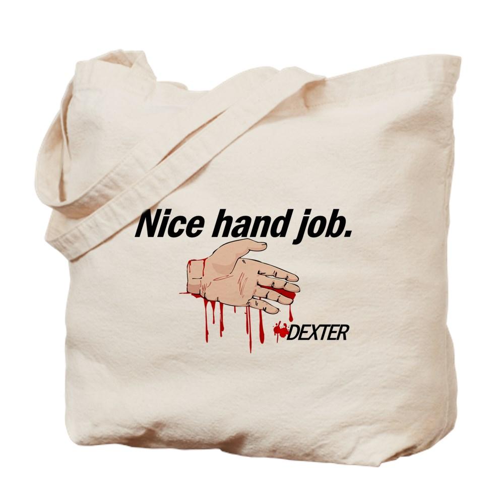 Nice Hand Job - Dexter - Bloody Hand Tote Bag