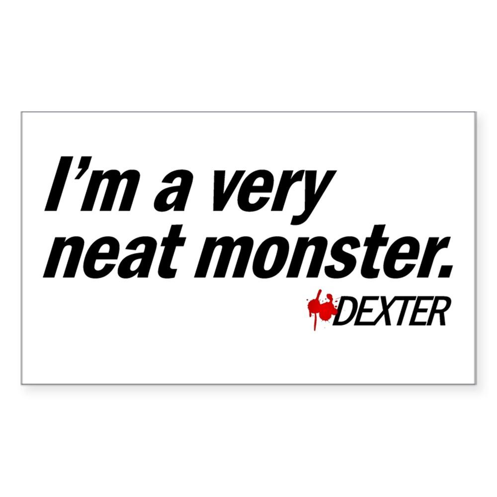 I'm a Very Neat Monster - Dexter Rectangle Sticker