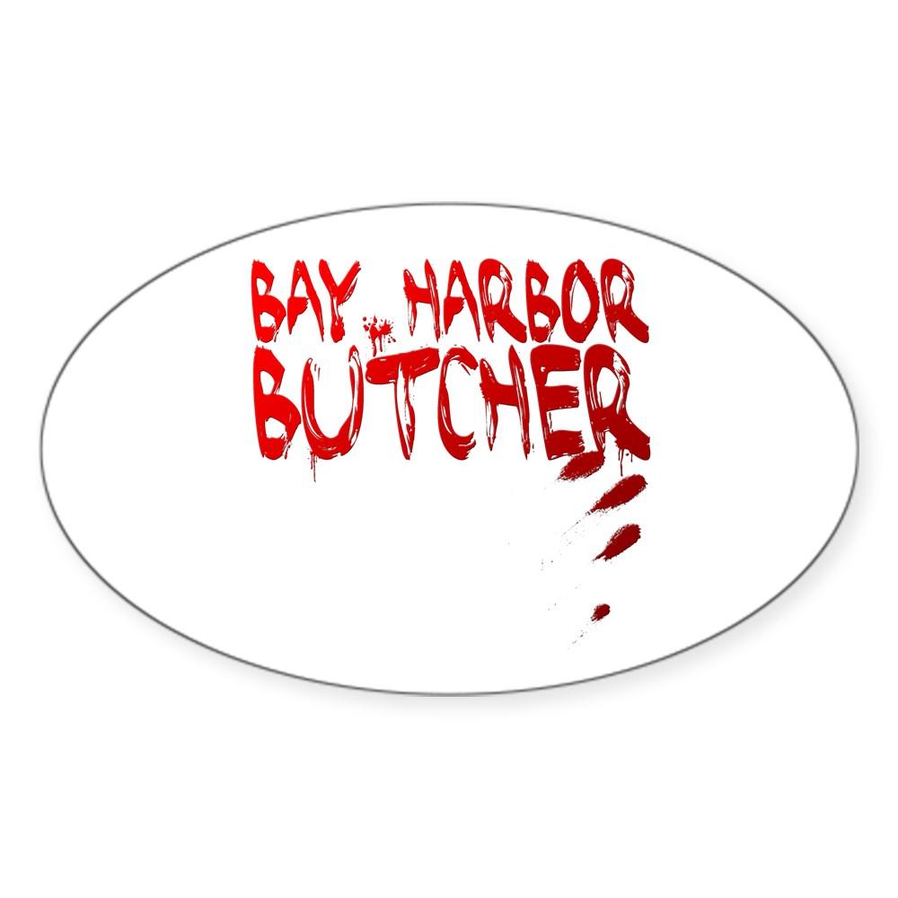 Bay Harbor Butcher Oval Sticker