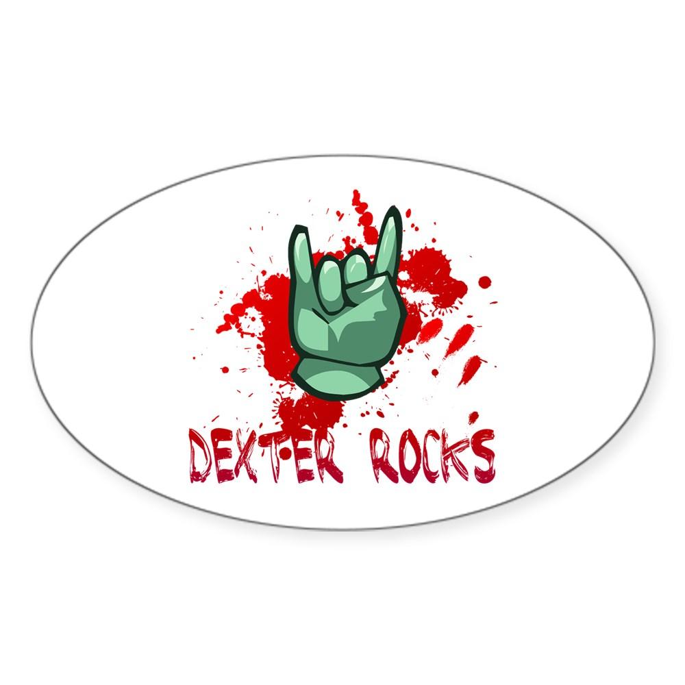 Dexter Rocks Oval Sticker