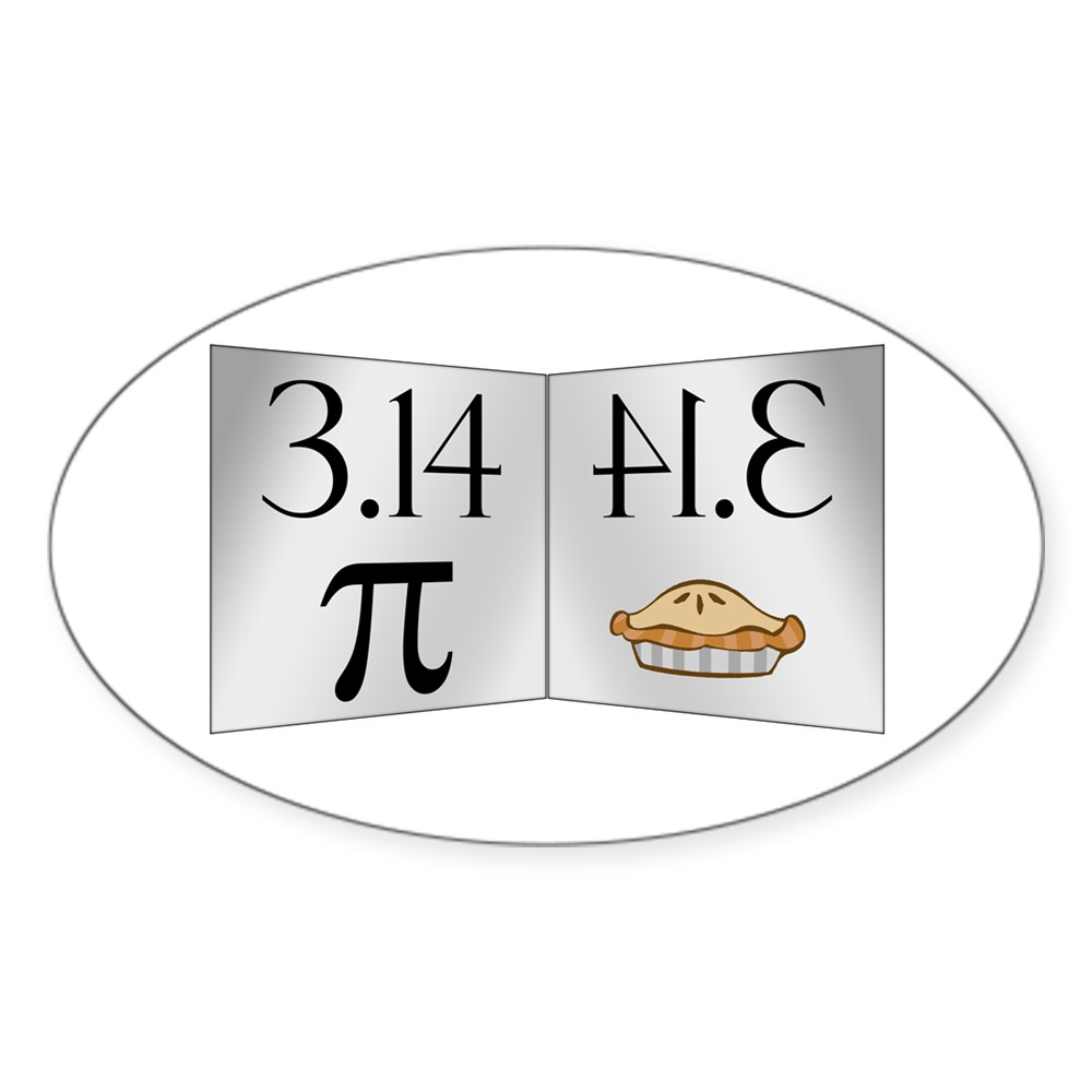 PI 3.14 Reflected as PIE Oval Sticker