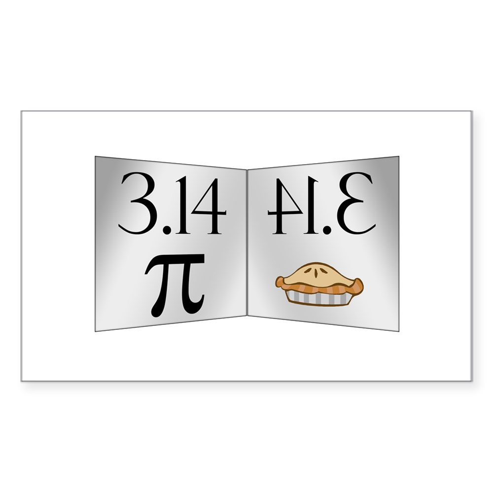 PI 3.14 Reflected as PIE Rectangle Sticker