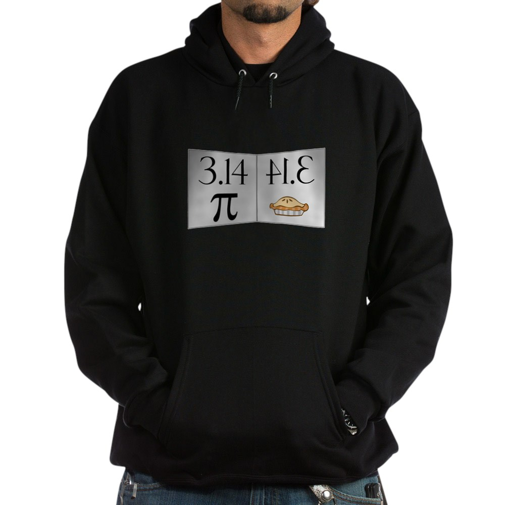 PI 3.14 Reflected as PIE Dark Hoodie