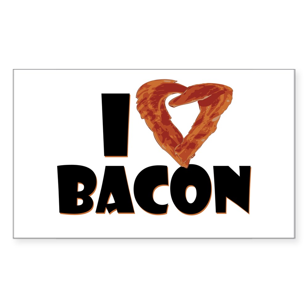 I Heart Bacon Rectangle Sticker