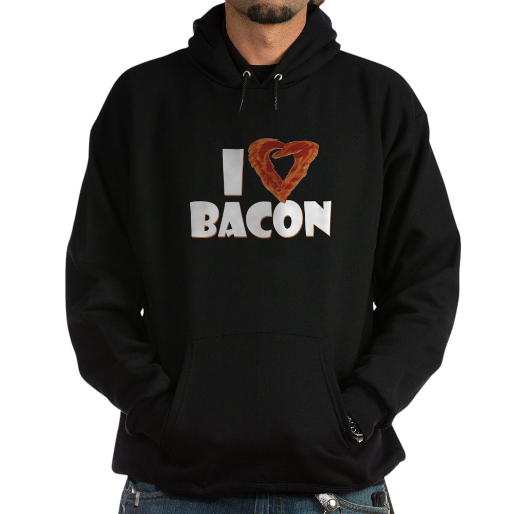 I Heart Bacon Dark Hoodie