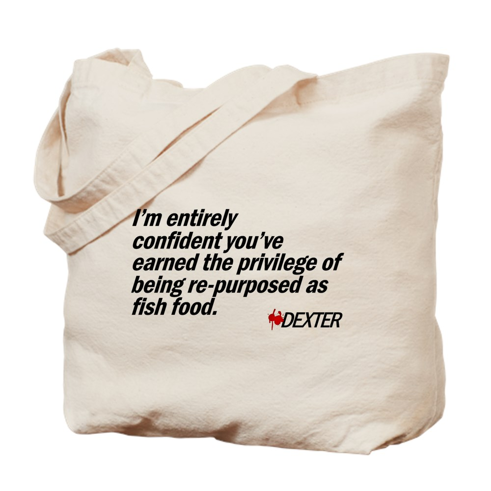 Re-purposed as Fish Food - Dexter Quote Tote Bag