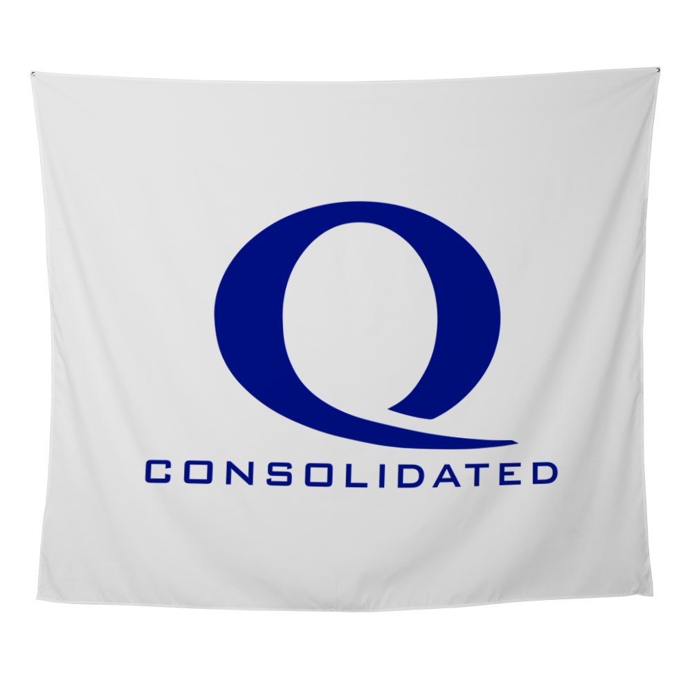 Queen Consolidated Logo Wall Tapestry