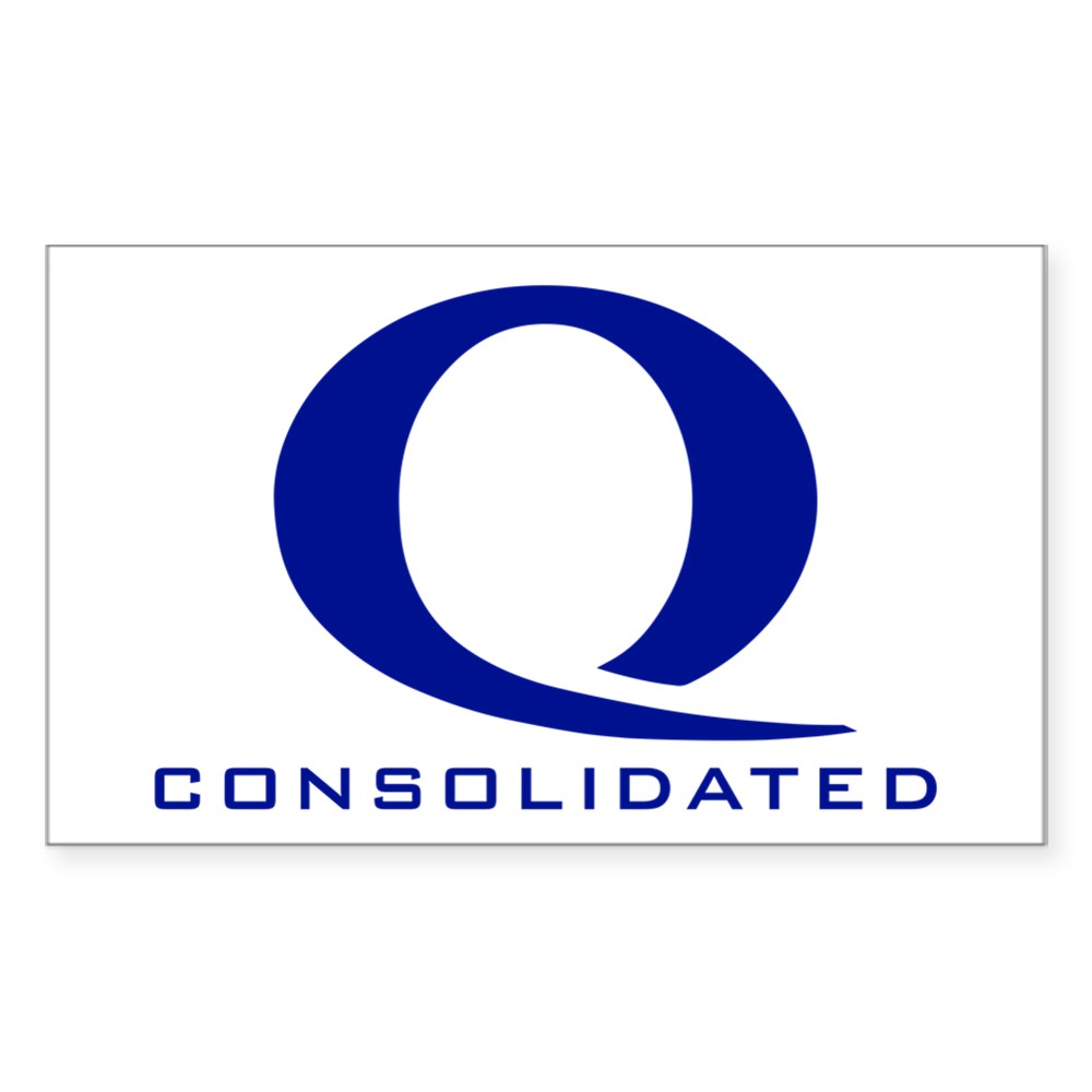 Queen Consolidated Logo Rectangle Sticker