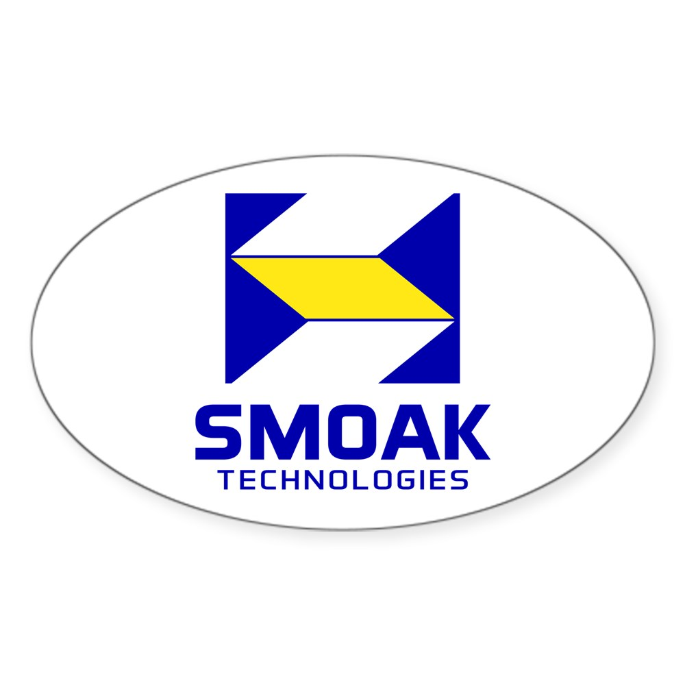 Smoak Technolgies Logo Oval Sticker