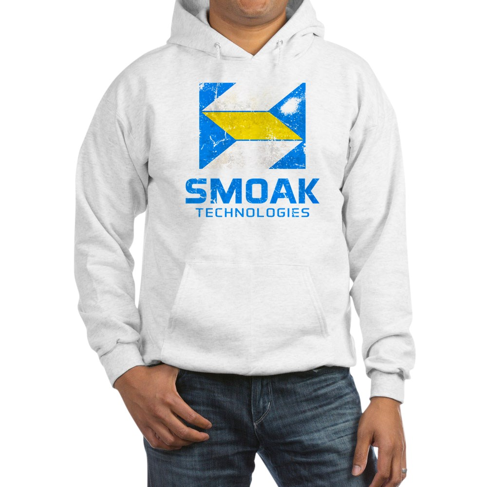 Distressed Smoak Technolgies Logo Hooded Sweatshirt