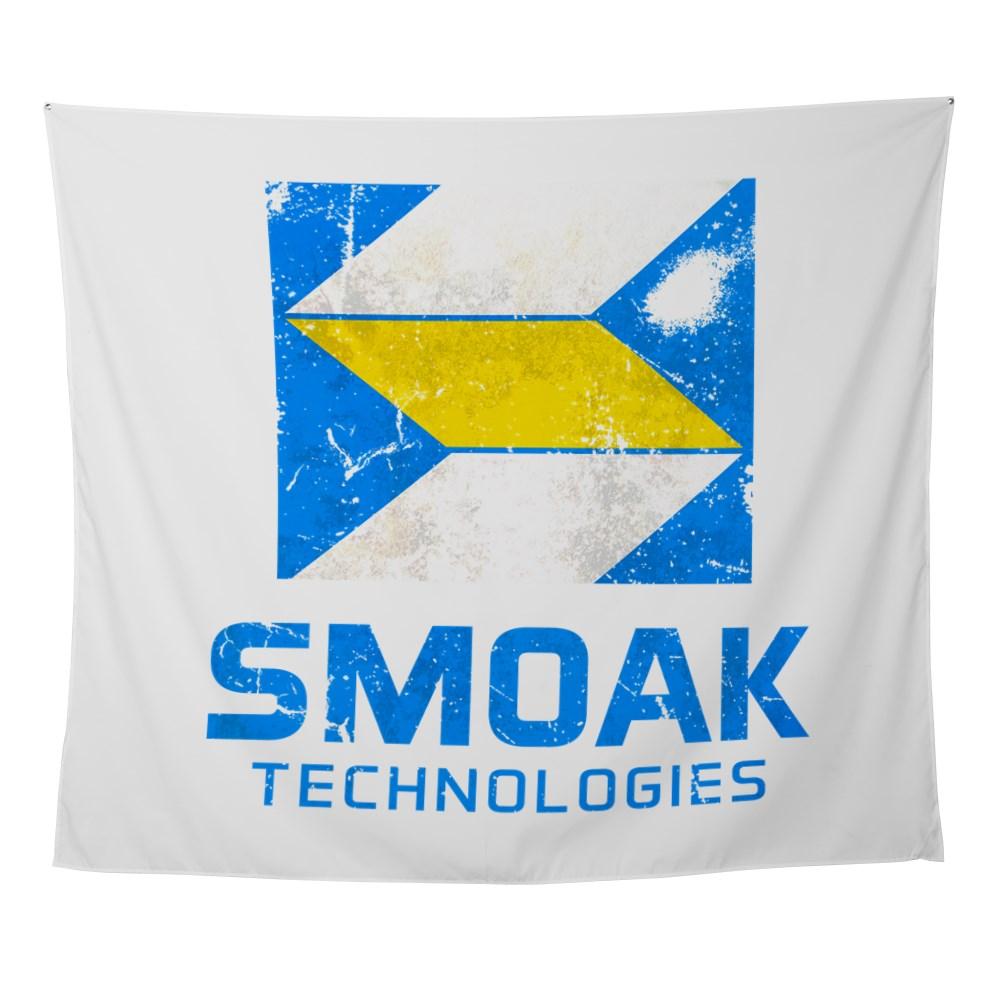 Distressed Smoak Technolgies Logo Wall Tapestry