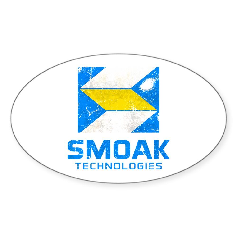 Distressed Smoak Technolgies Logo Oval Sticker