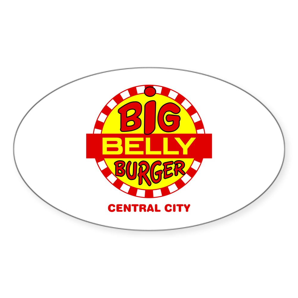 Big Belly Burger Central City Oval Sticker
