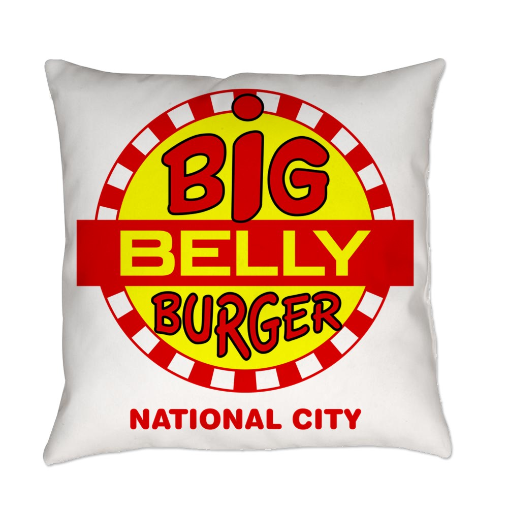 Big Belly Burger National City Everyday Pillow
