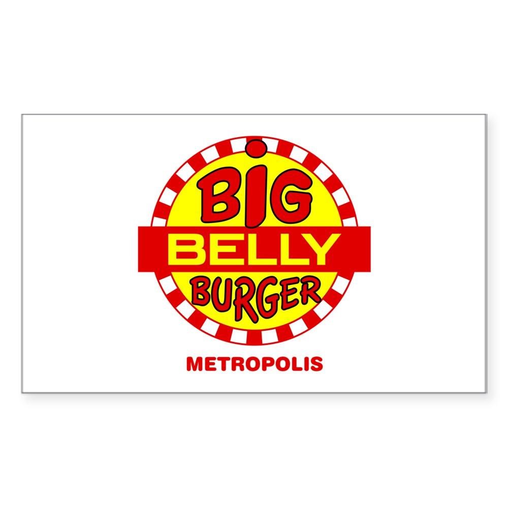 Big Belly Burger Metropolis Rectangle Sticker