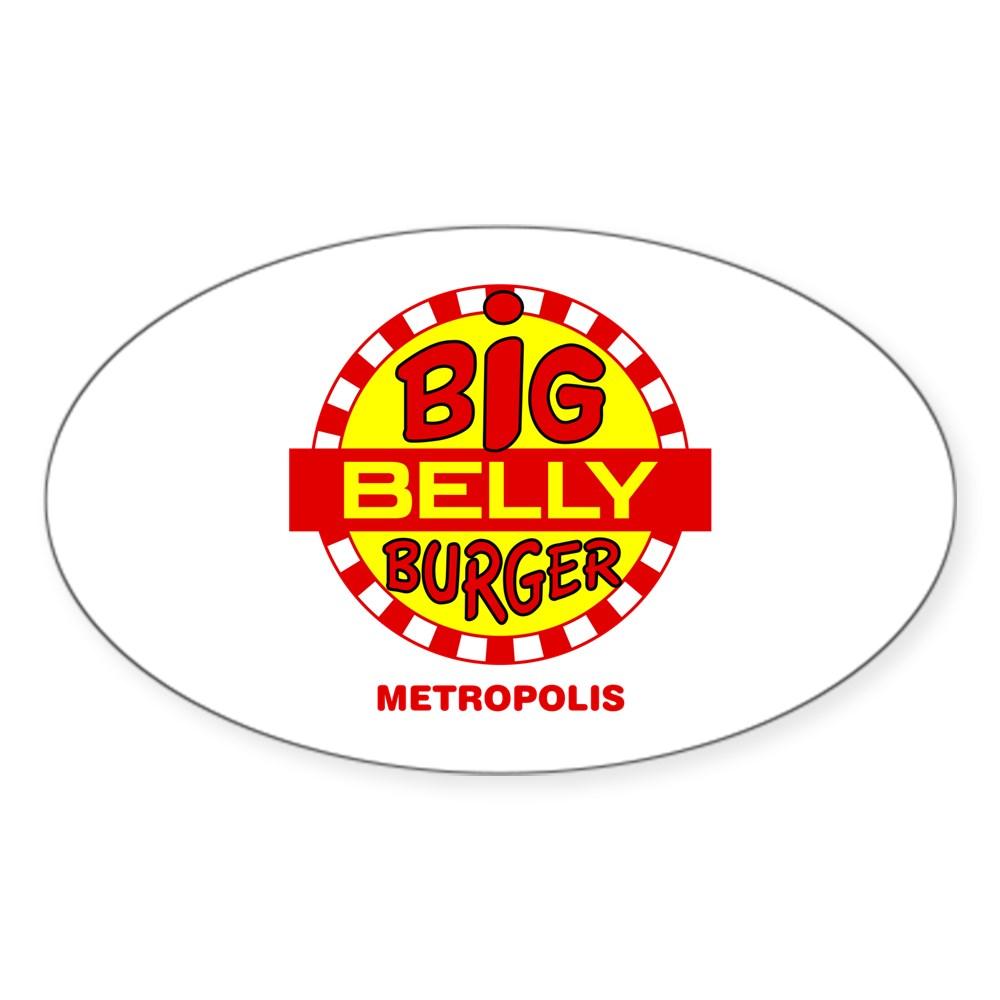 Big Belly Burger Metropolis Oval Sticker