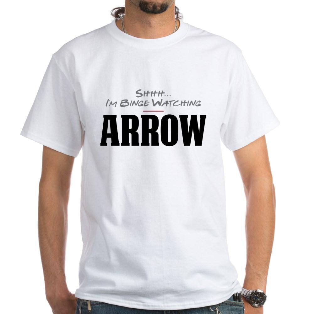 Shhh... I'm Binge Watching Arrow White T-Shirt