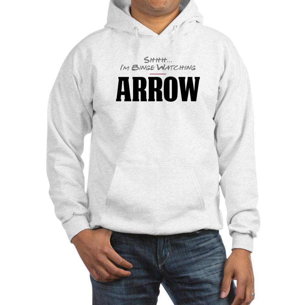 Shhh... I'm Binge Watching Arrow Hooded Sweatshirt