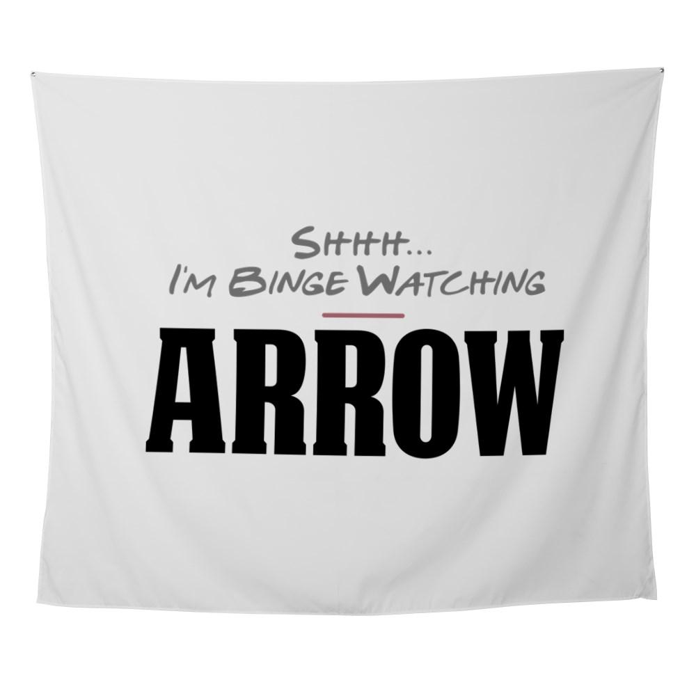 Shhh... I'm Binge Watching Arrow Wall Tapestry