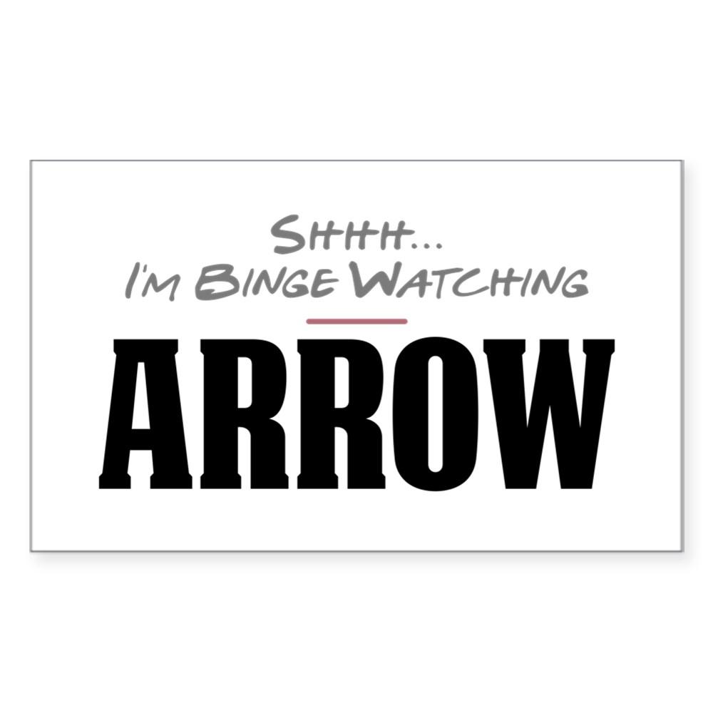 Shhh... I'm Binge Watching Arrow Rectangle Sticker