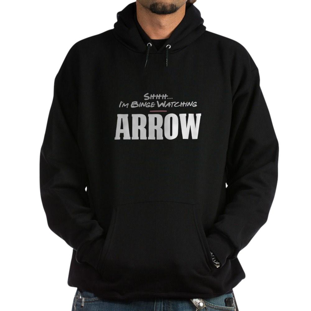 Shhh... I'm Binge Watching Arrow Dark Hoodie