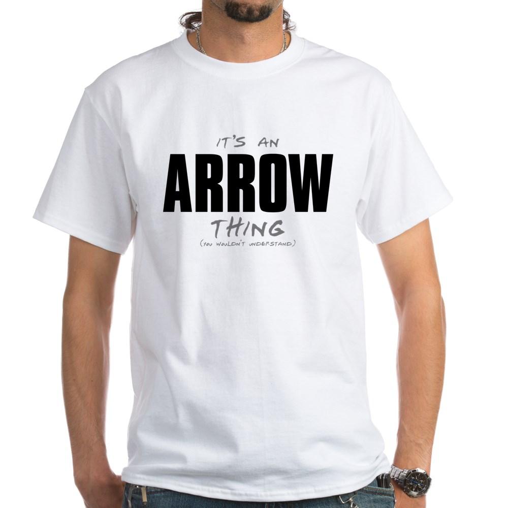 arrow thing dk White T-Shirt