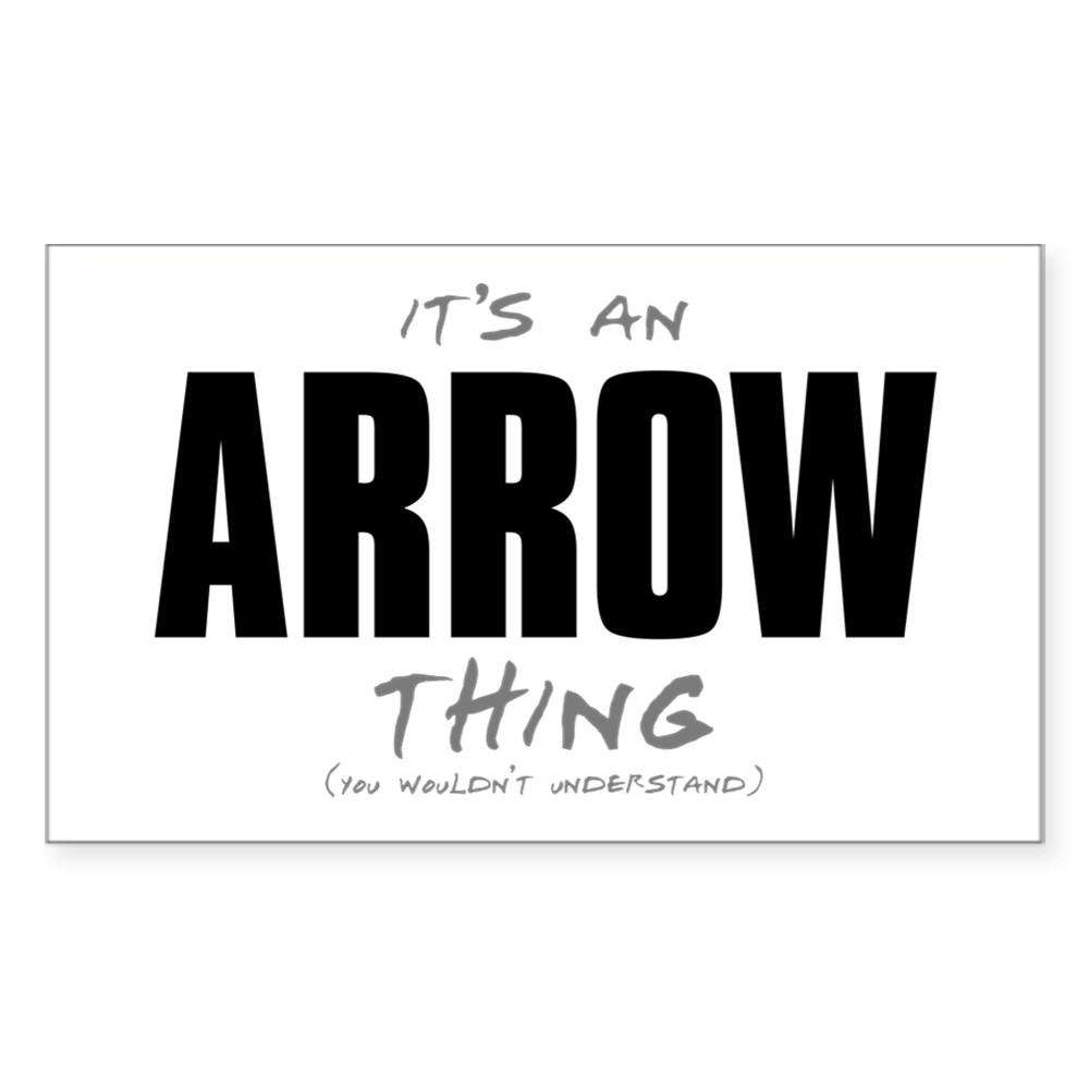 arrow thing dk Rectangle Sticker