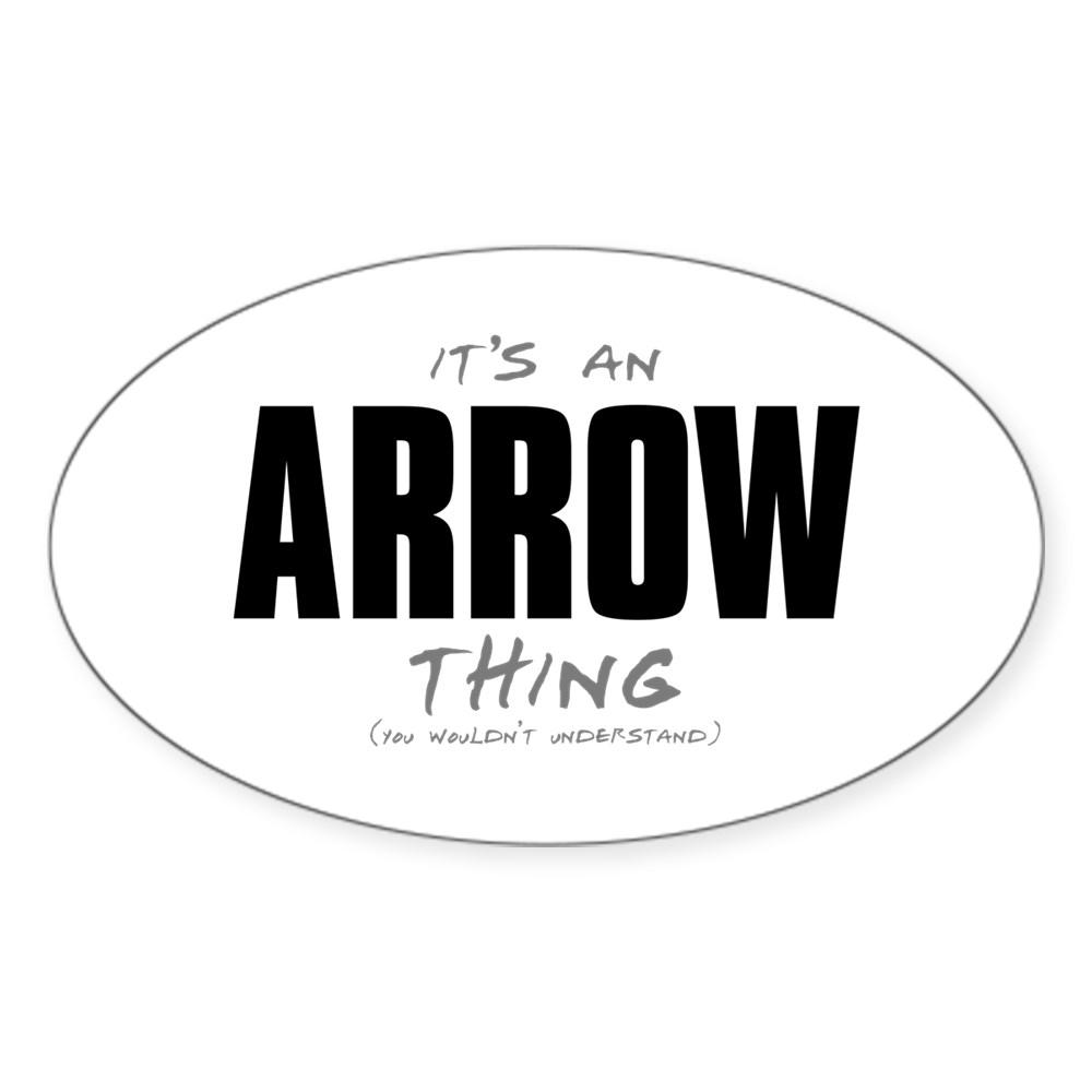 arrow thing dk Oval Sticker