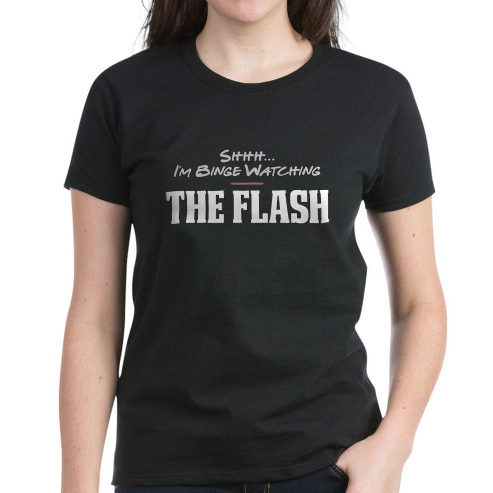 Shhh... I'm Binge Watching The Flash Women's Dark T-Shirt