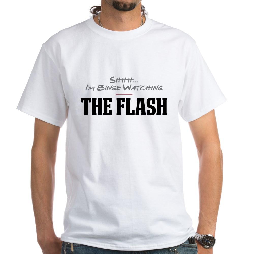 Shhh... I'm Binge Watching The Flash White T-Shirt