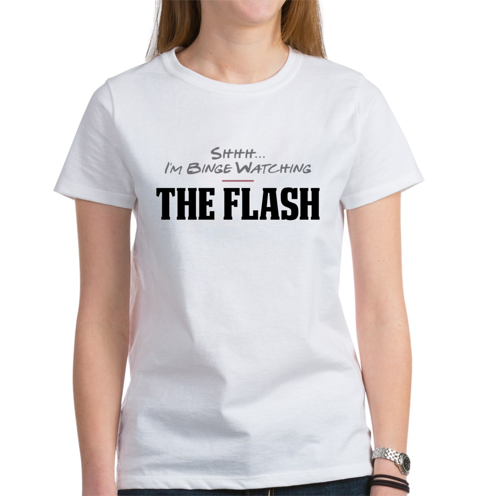 Shhh... I'm Binge Watching The Flash Women's T-Shirt