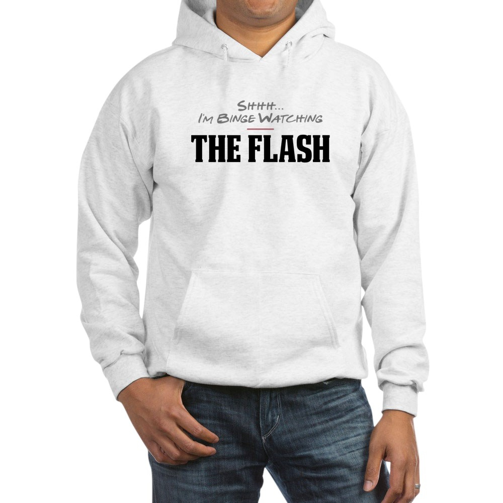 Shhh... I'm Binge Watching The Flash Hooded Sweatshirt