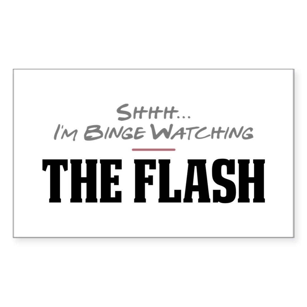 Shhh... I'm Binge Watching The Flash Rectangle Sticker