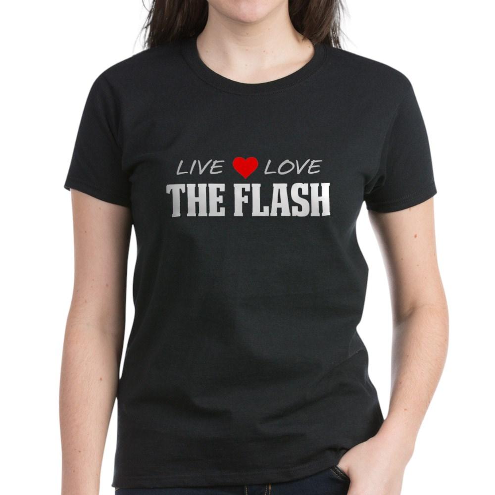Live, Love, The Flash Women's Dark T-Shirt
