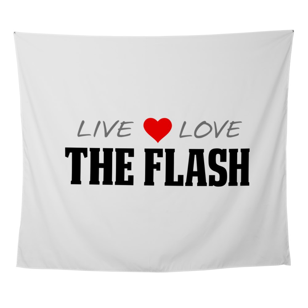 Live, Love, The Flash Wall Tapestry