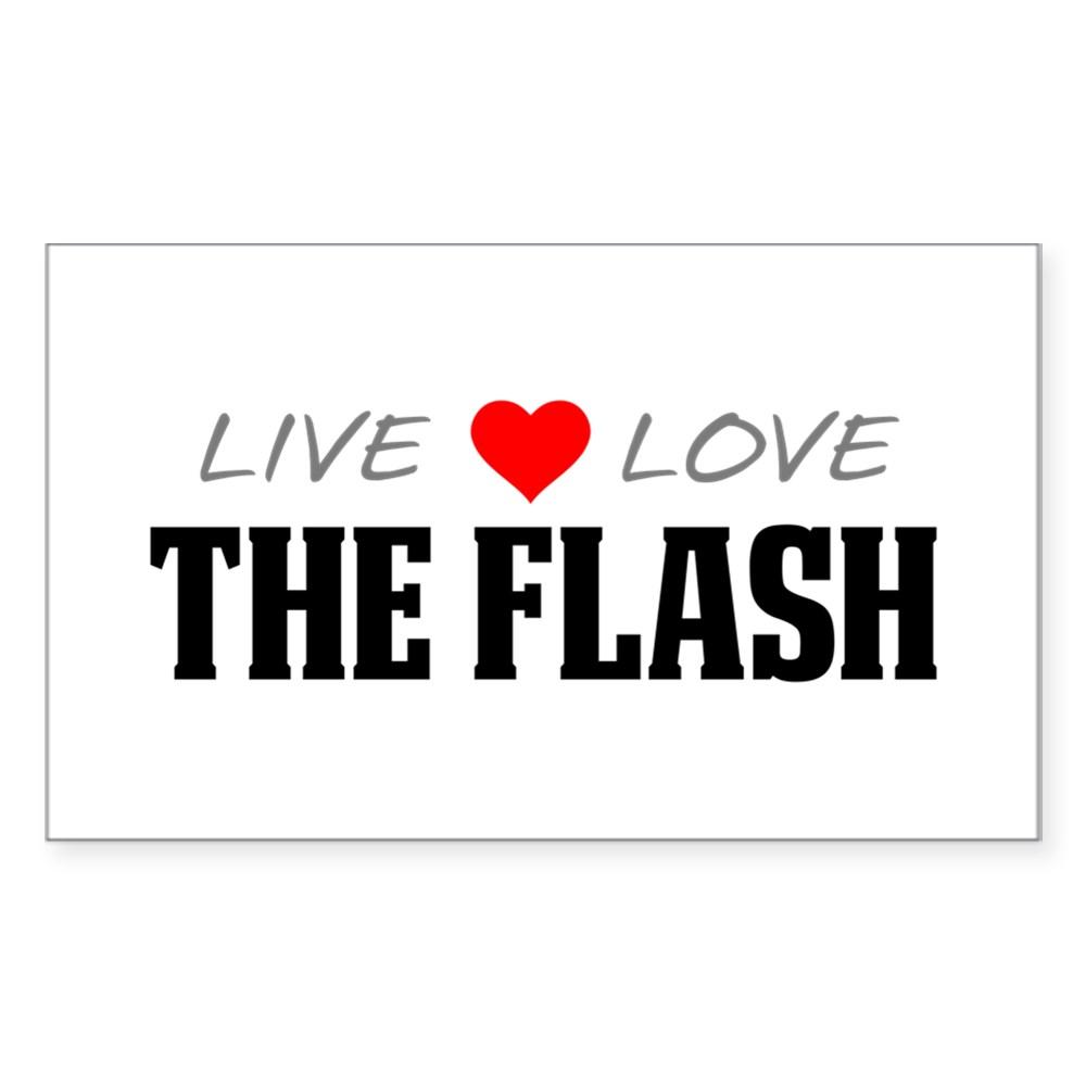 Live, Love, The Flash Rectangle Sticker