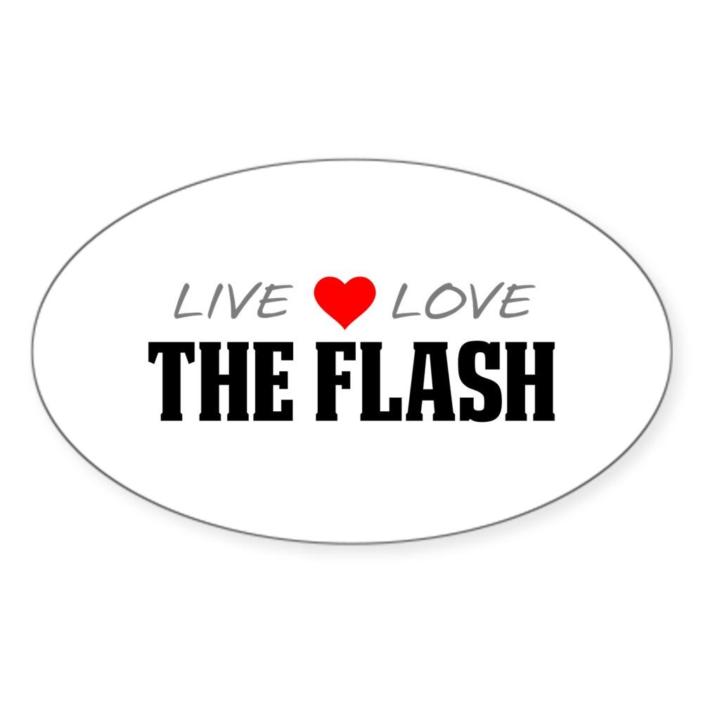 Live, Love, The Flash Oval Sticker