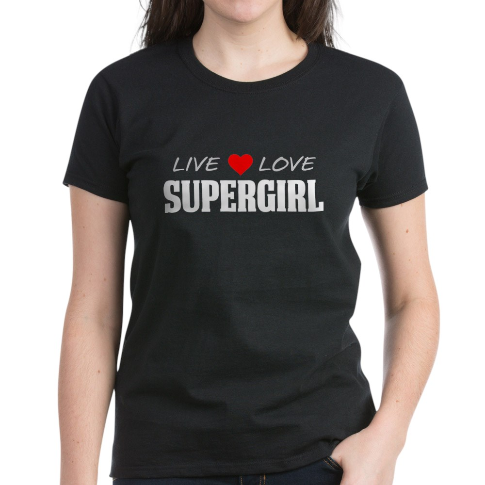 Live Love Supergirl Women's Dark T-Shirt